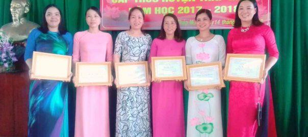 Những Giáo viên đạt giải Hội thi giáo viên giỏi vòng huyện của trường